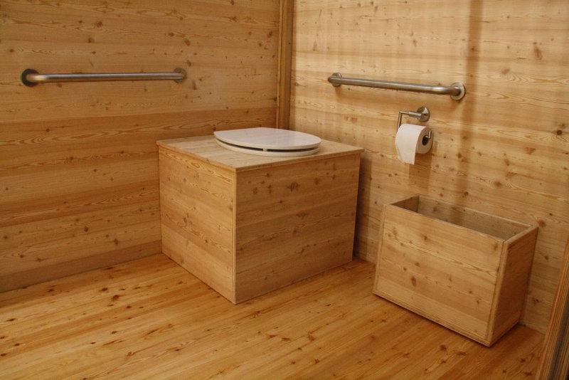 nowato barrierefreie Komposttoilette Modell Wald 80L, Innenraum