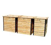 Pack 3 Komposter für Trockentoiletten 3200 Liter