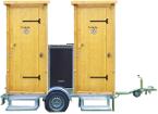 Skizze nowato Toilettenanhänger - 2 Toiletten - Toilettenanhänger zum Mieten - nowato